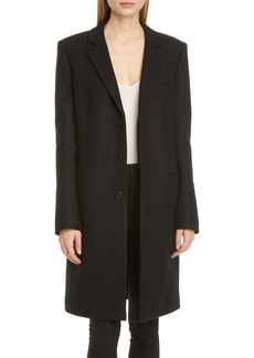 Saint Laurent Reefer Wool Coat