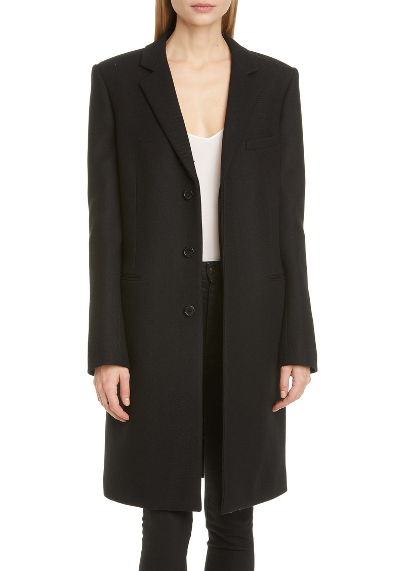 Saint Laurent Reefer Wool Coat