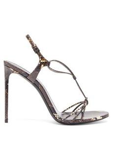 Saint Laurent Robin snakeskin sandals