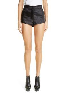Saint Laurent Satin Mini Shorts