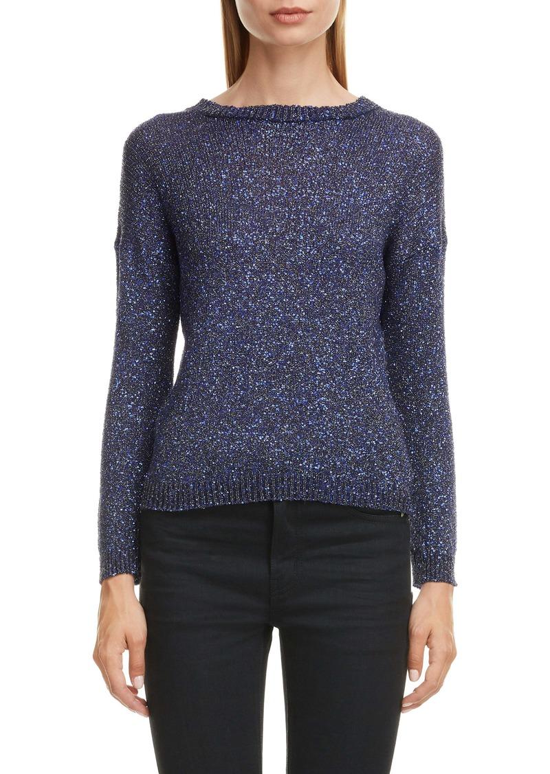 Saint Laurent Sequin Metallic Sweater