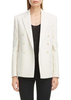 Saint Laurent Sequin Tweed Blazer