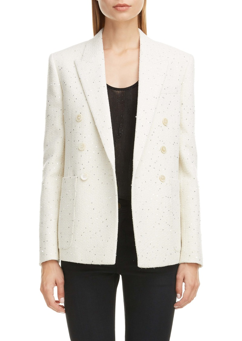 Saint Laurent Sequin Tweed Blazer