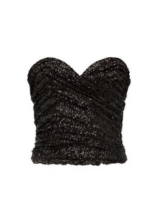 Saint Laurent Sequinned bustier top