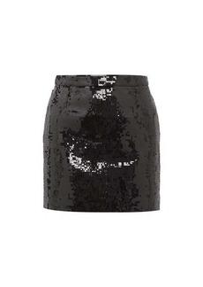 Saint Laurent Sequinned mini skirt