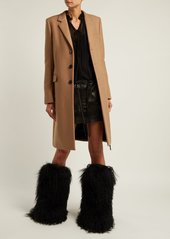 Saint Laurent Shearling and leather knee-high moon boots