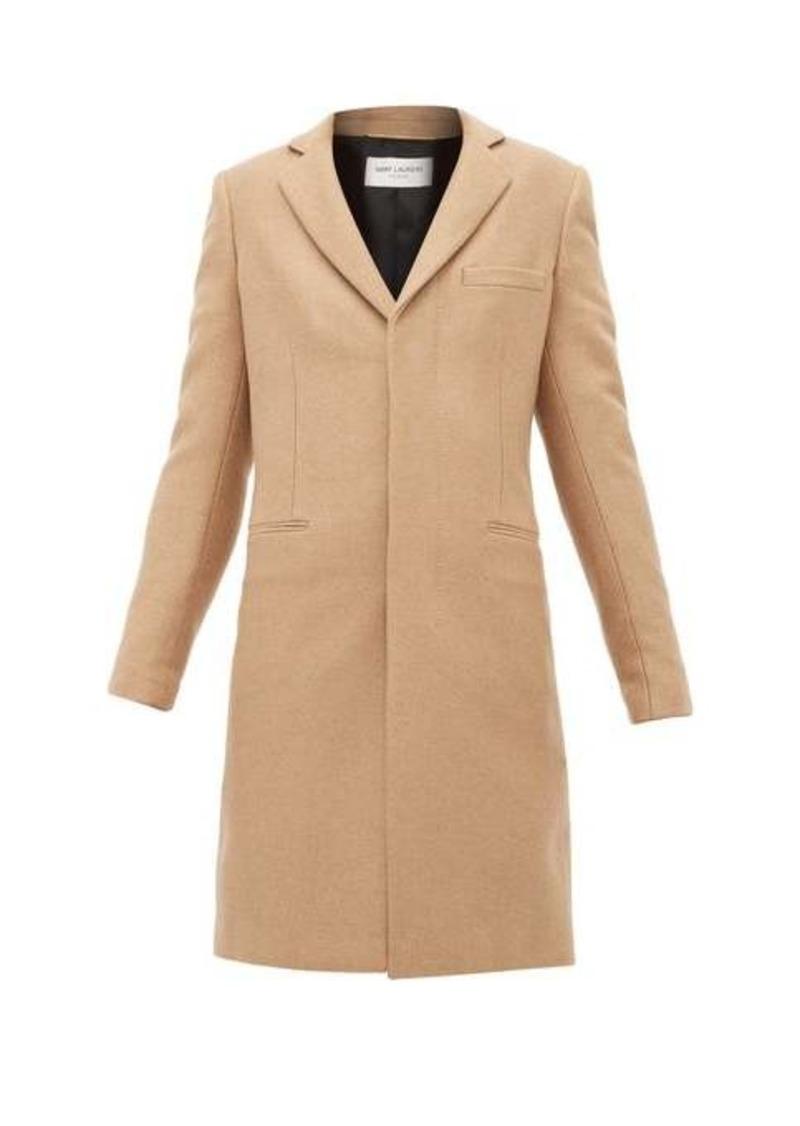 Saint Laurent Single-breasted camel-hair coat