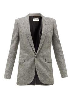 Saint Laurent Single-breasted herringbone wool blazer