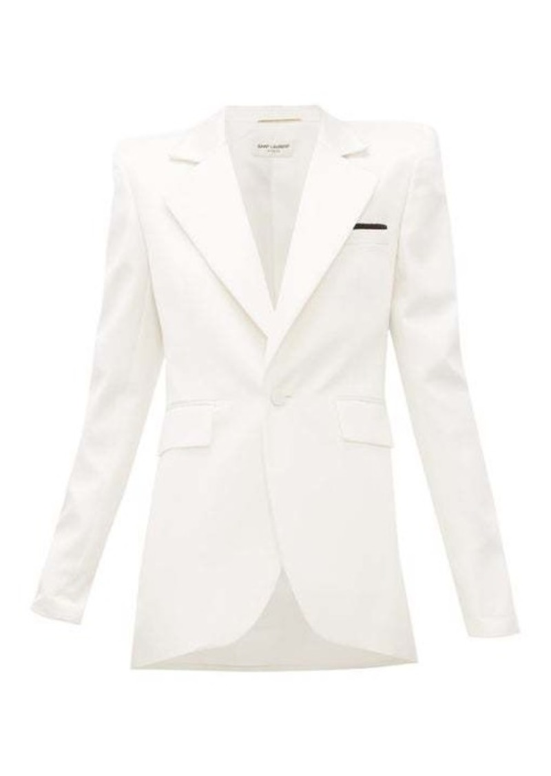 Saint Laurent Single-breasted silk-blend satin blazer