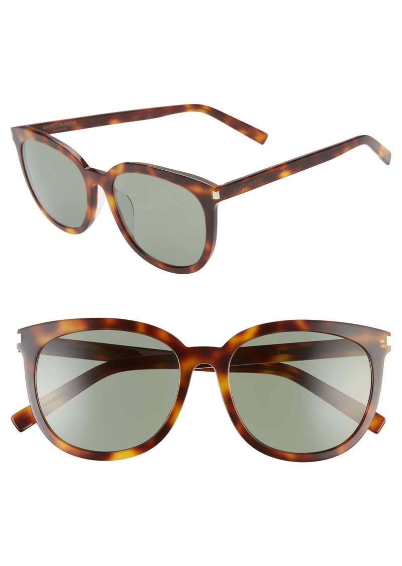 Saint Laurent Slim 56mm Cat Eye Sunglasses