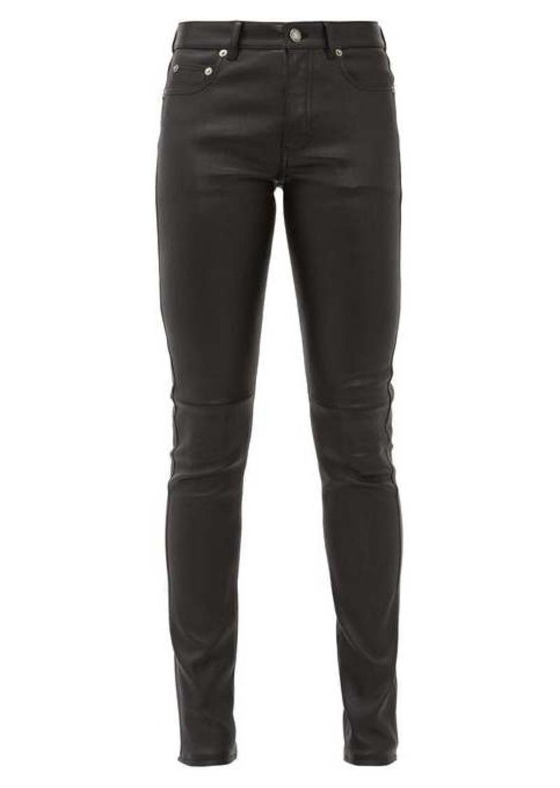 Saint Laurent Slim-fit leather trousers