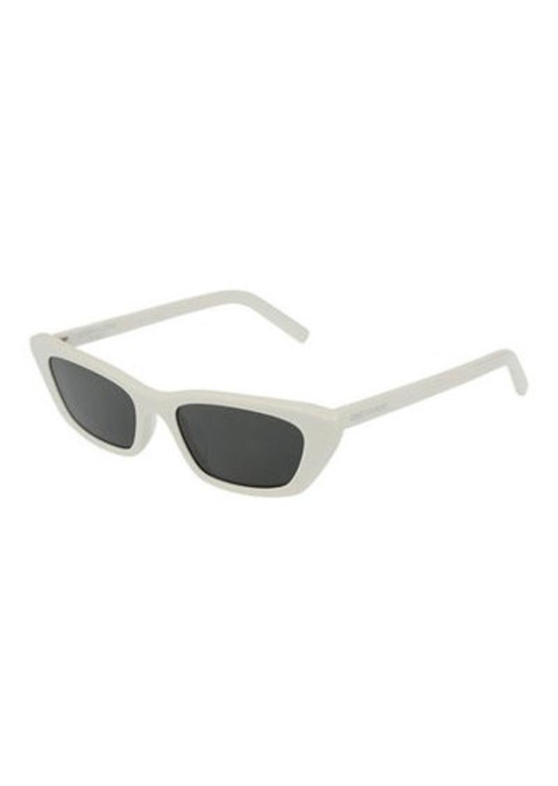 Saint Laurent Slim Rectangle Acetate Sunglasses