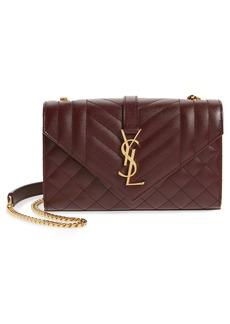 Saint Laurent Small Envelope Leather Shoulder Bag