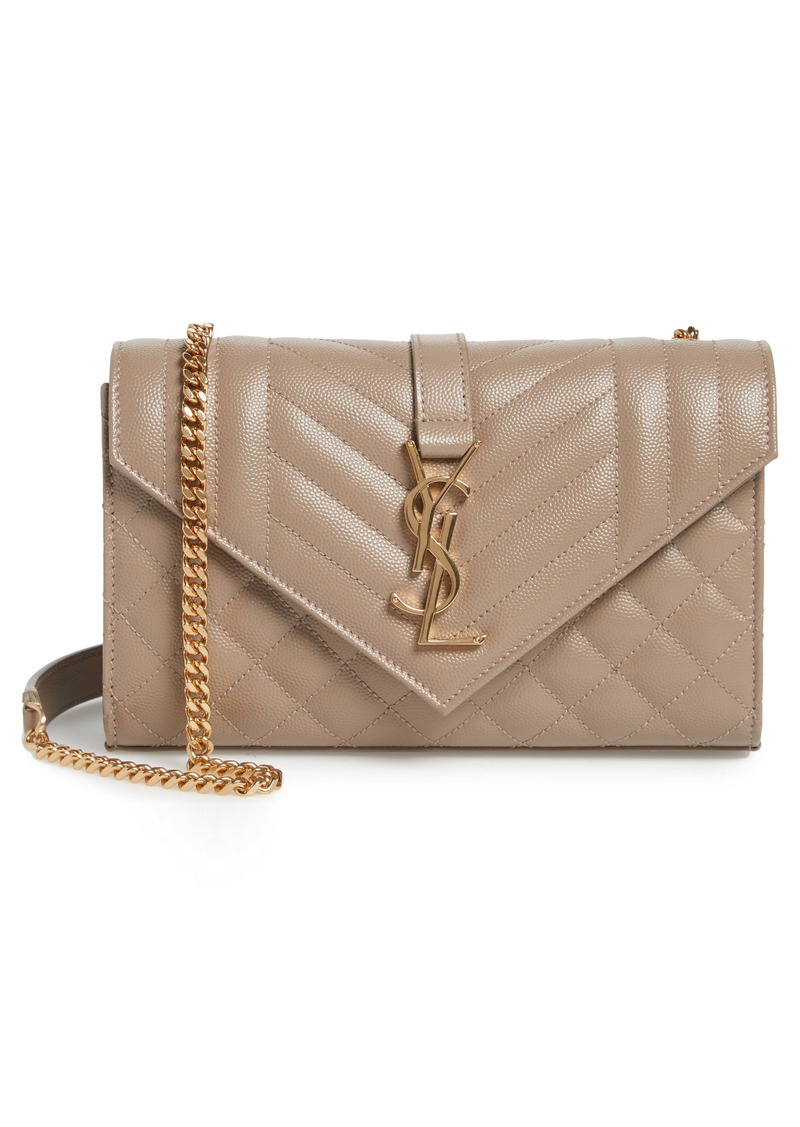 Saint Laurent Small Envelope Leather Shoulder Bag