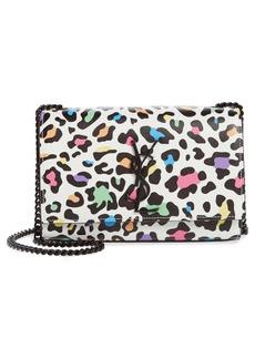 Saint Laurent Small Kate Leopard Print Leather Crossbody Bag