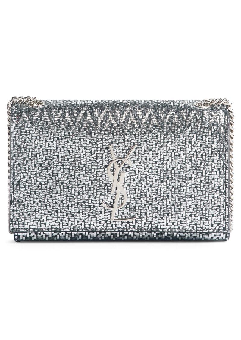 91d9888e55a9 Saint Laurent Saint Laurent Small Kate Metallic Leather Chain ...