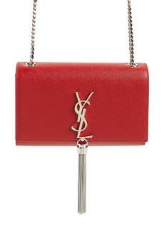 Saint Laurent Small Kate Textured Leather Crossbody Bag