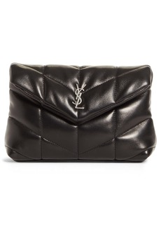 Saint Laurent Small Lou Puffer Pouch