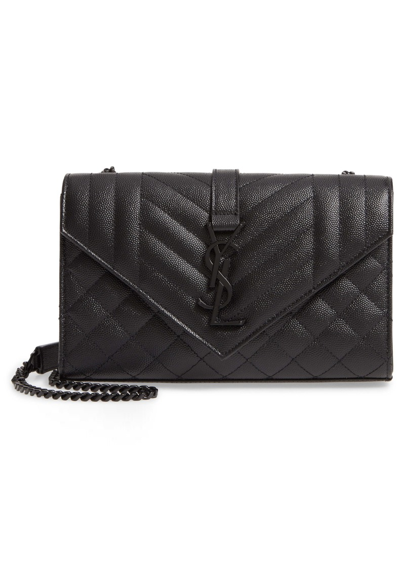 Saint Laurent Small Monogram Quilted Leather Shoulder Bag