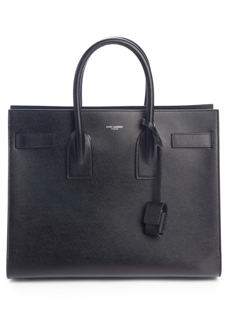 Saint Laurent Small Sac de Jour Grained Leather Tote