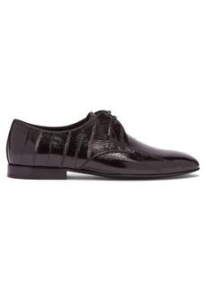 Saint Laurent Smoking eel-skin shoes
