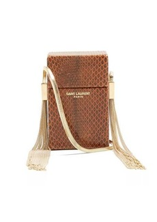 Saint Laurent Smoking Minaudière leather cross-body bag
