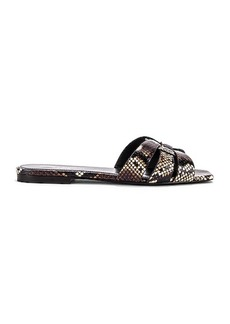 Saint Laurent Snake Print Slides