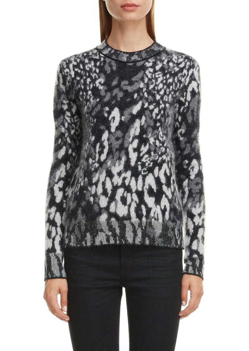 Saint Laurent Snow Leopard Jacquard Sweater