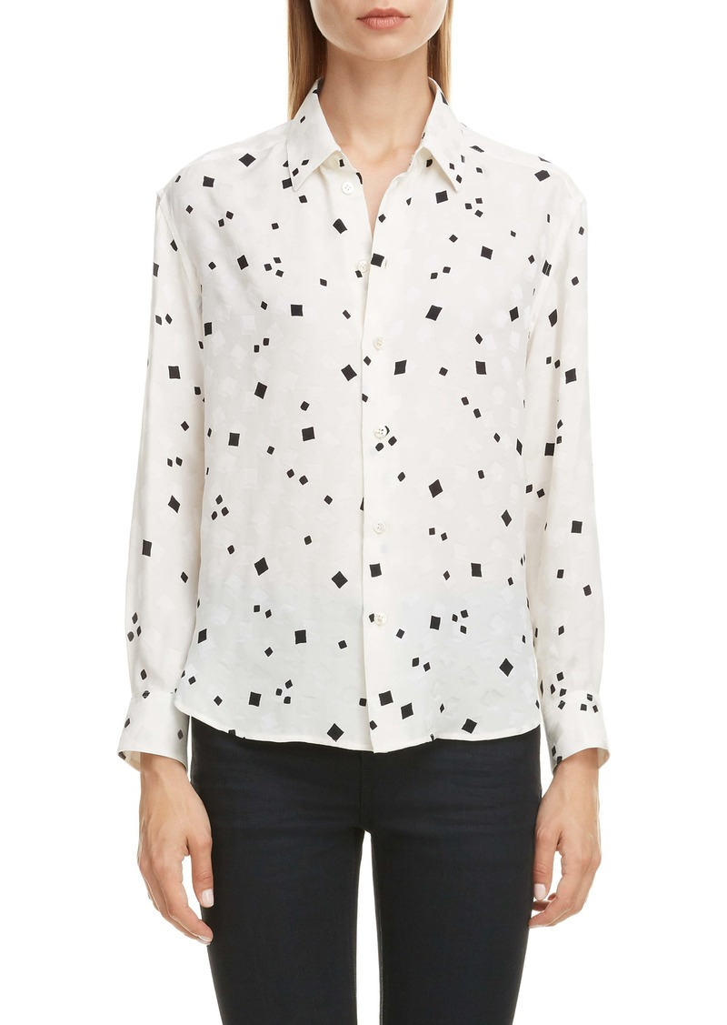 Saint Laurent Square Dot Jacquard Shirt