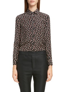 Saint Laurent Star Print Silk Shirt
