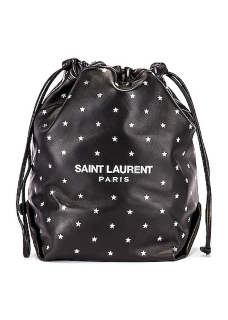 Saint Laurent Star Teddy Pouch Chain Bag
