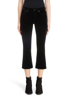 Saint Laurent Stretch Velvet Crop Pants