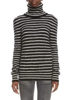 Saint Laurent Stripe Turtleneck Sweater