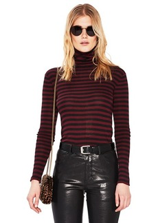 Saint Laurent Striped Turtleneck Fitted Sweater