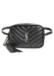 Saint Laurent Studded Quilted Micro Belt Bag