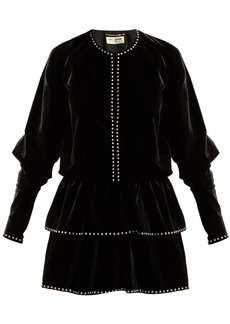 Saint Laurent Studded velvet dress