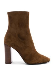 Saint Laurent Suede Lou Ankle Boots