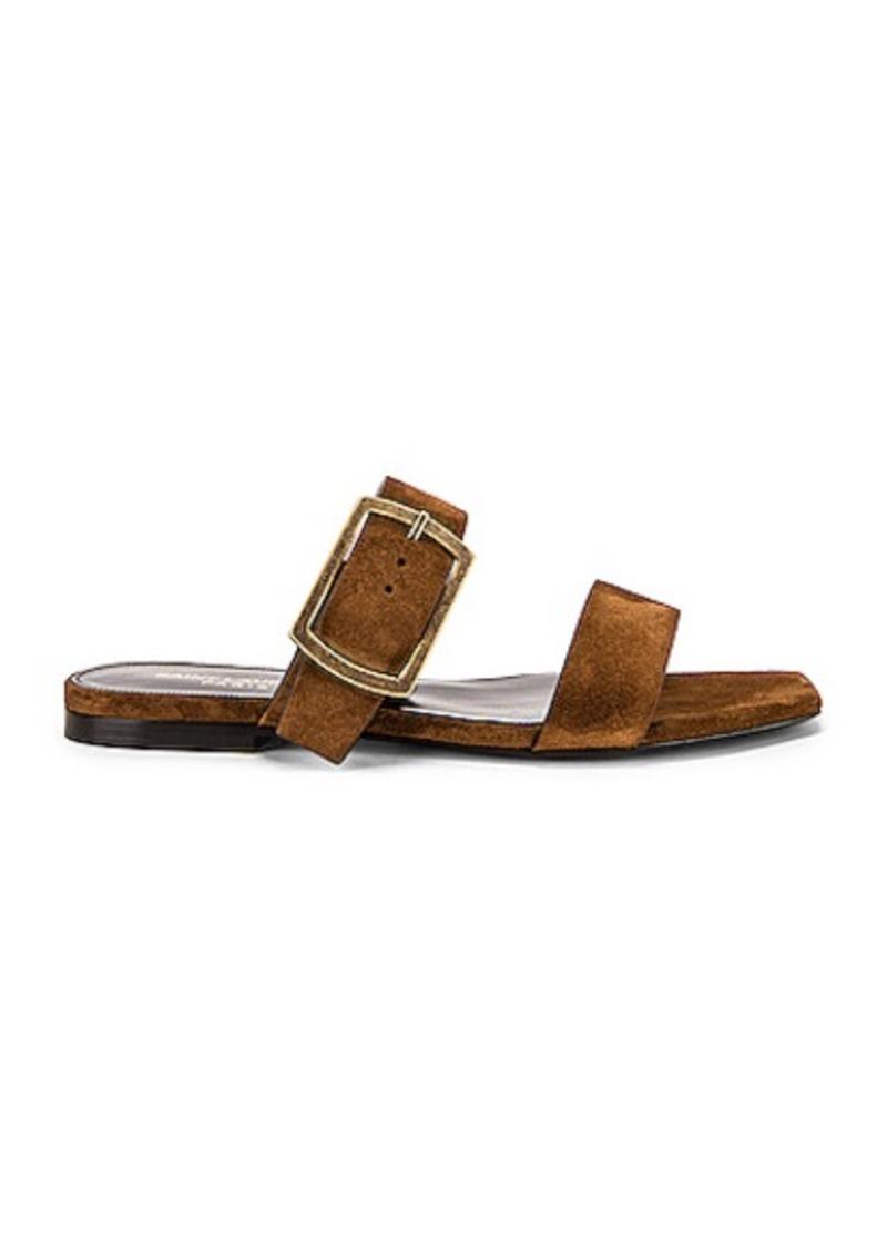 Saint Laurent Suede Oak Sandals