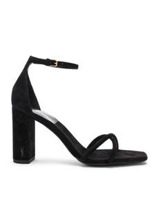 Saint Laurent Suede Pin Loulou Ankle Strap Sandals