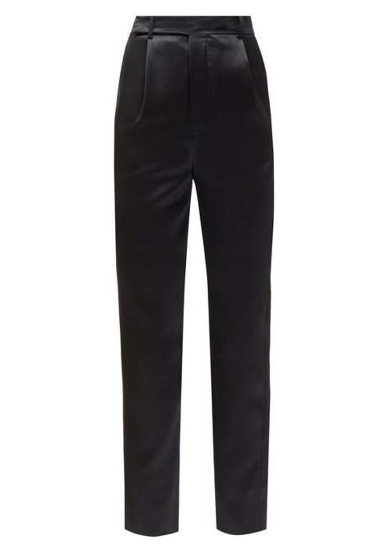 Saint Laurent Tailored high-rise wool trousers