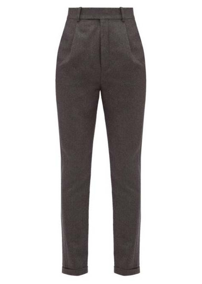 Saint Laurent Tailored wool-flannel trousers