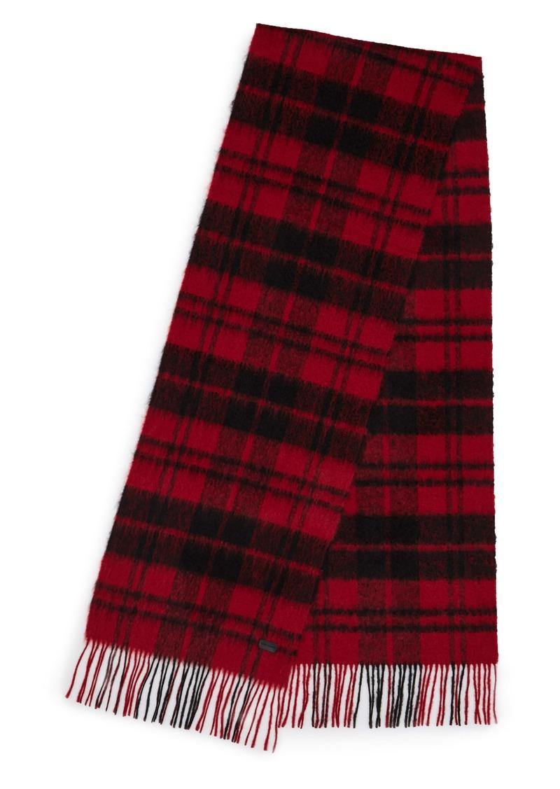 Saint Laurent Tartan Wool & Mohair Blend Stole