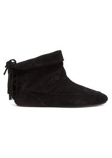 Saint Laurent Tasseled suede ankle boots