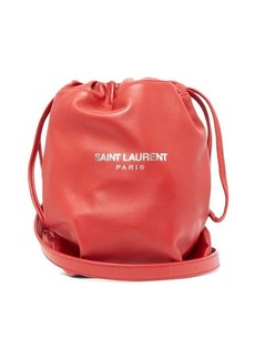 Saint Laurent Teddy drawstring leather bucket bag