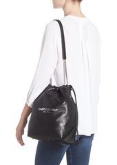 Saint Laurent Saint Laurent Teddy Leather Bucket Bag  46c99e0c1a57b