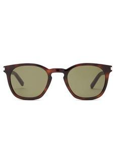 Saint Laurent Tortoiseshell acetate round-frame sunglasses