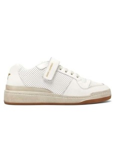 Saint Laurent Travis perforated low-top leather trainers