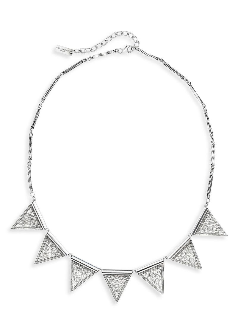Saint Laurent Triangle Frontal Necklace