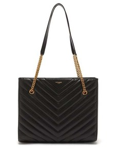 Saint Laurent Tribeca chevron-quilted leather tote bag