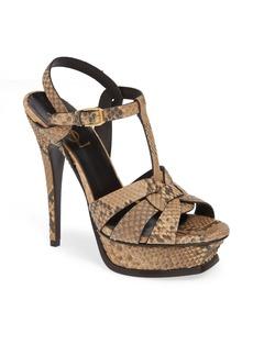 Saint Laurent Tribute Genuine Python Sandal (Women)